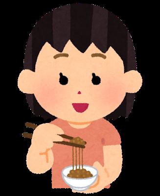 朝食に豆腐、納豆、みそ汁